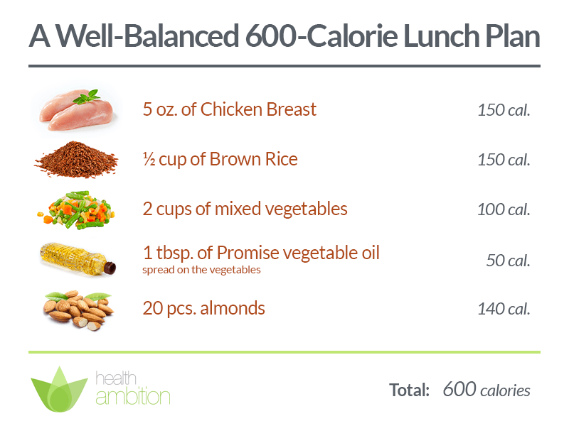 Stick to your objectives with 600 calorie meals - Health Ambition