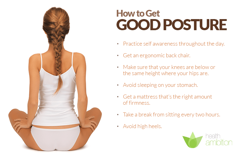 How To Get Good Posture Health Ambition