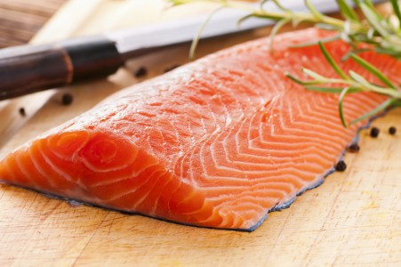 Besides the fact that it's tasty, salmon is a great source of Omega 3 and has been proven to make you feel happy