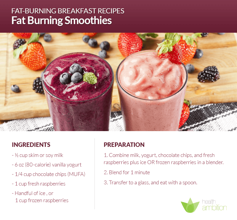 smoothies are the easiest fat burning breakfasts