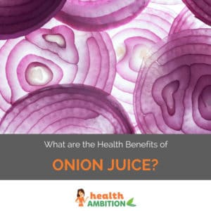 """Onions with the title """"What are the Health Benefits of Onion Juice?"""""""