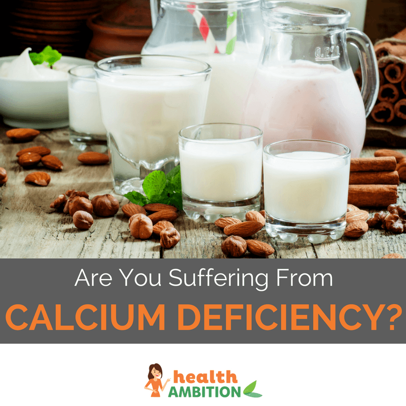 """Various types of milk with the title """"Are You Suffering From Calcium Deficiency?"""""""