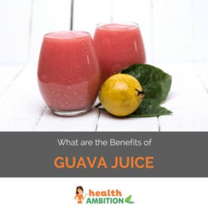 """Glasse sof guava juice with the title """"What are the Benefits of Guava Juice?"""""""