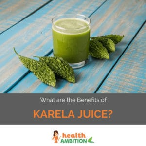 """Karela juice and karela with the title """"What are the Benefits of Karela Juice?"""""""